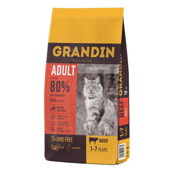 Grandin Adult Cat Beef Grain Free